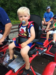 Toddler harness for younger riders